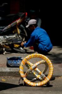 Motorbike repair station