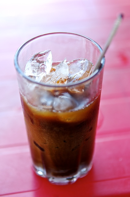 Coffee with ice and milk, Vietnamese style, aka Ca Phe Sua Da.